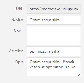 optimizacija slika SEO
