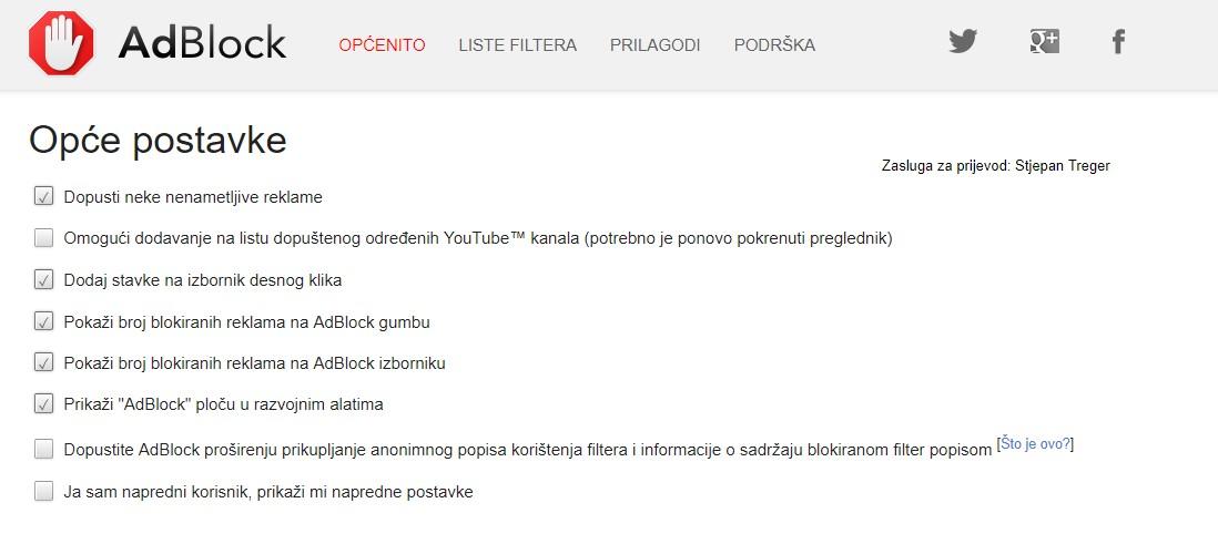 kako blokirati oglase na internetu