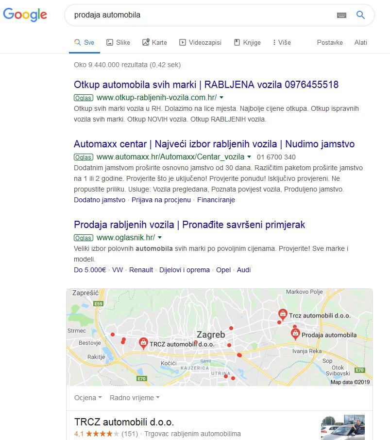 Google pretraživanje 2019
