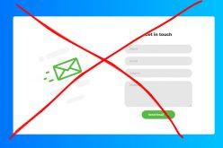 3 glavna razloga zašto NE koristiti kontakt forme na vašoj web-stranici